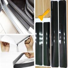 Accessoires 4x 5d Fibre De Carbone Voiture Éraflure Plaque Porte Sill Autocollant Panneau Protecteur
