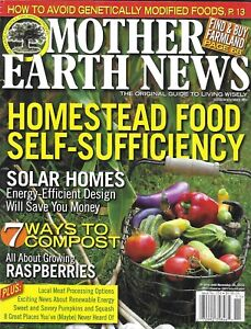 Mother Earth News Magazine Homestead Food Self Sufficiency Solar Homes Compost