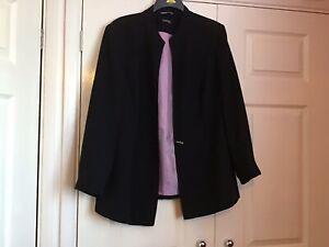 "Essence Ladies  Jacket Size  20 Black Length 30"" Armpit To Armpit 24"""