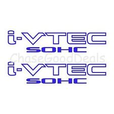 BLUE I-VTEC SOHC STICKER X2 DECAL EMBLEM CIVIC S2000 ACCORD JDM IMPORT ILLEST