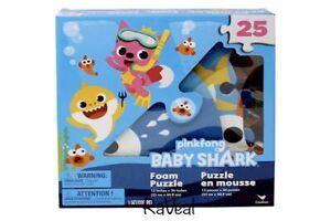 "Pinkfong Baby Shark Toddler 25 Piece Foam Floor Puzzle 13""x 24"" Gift Free Ballon"