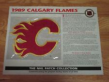 "1989 CALGARY FLAMES Replica 7"" Patch LANNY MacDONALD"