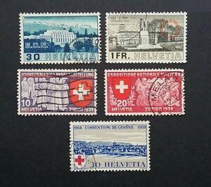 Switzerland 1938-39 stamps ( part sets )