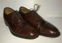 Johnston & Murphy Optima 9.5 D Brown Oxford Lace Up Cap Toe Shoes