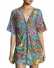 NEW TRINA TURK MADAGASCAR SWIMSUIT COVER-UP TUNIC, SIZE LARGE