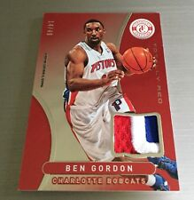 2012-13 Totally Certified BEN GORDON Bobcats Totally Red (3-Color) Patch  14/49