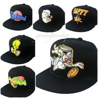 Looney tunes snapback caps, mens, ladies flat peak baseball hats, Daffy, Bunny
