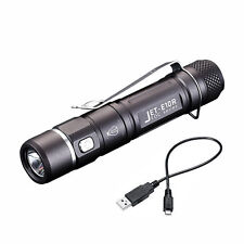 JETbeam E10R USB Rechargeable LED Flashlight Cree XP-L 650LM EDC Torch AA 14500