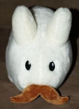 "Kidrobot WHITE STACHE LABBIT 14"" Frank Kozik rabbit bunny large plush mustache"