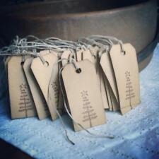 Christmas Gift Tags, Rustic, Primitive, Twig Tree, set of 12