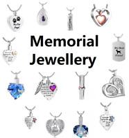 Cremation Jewellery Ashes Pendant Necklace Locket Urn Keepsake Memorial - UK