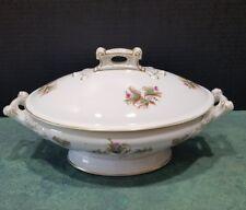 Vintage Haviland Limoges Oval Footed Vegetable Bowl with Lid