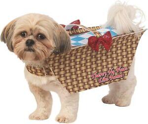 Toto Basket Wizard of Oz Cute Funny Fancy Dress Up Halloween Pet Dog Cat Costume
