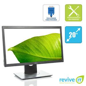 """Dell P2017H 20"""" Widescreen 1600x900 16:9 IPS LED LCD Monitor HDMI DP VGA Grade B"""