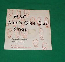 1980 MICHIGAN STATE COLLEGE GLEE CLUB RCA 45 VINYL RECORD ALBUM SPARTAN 100 YEAR
