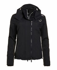 Superdry Ladies' Jacket Pop Zip Hood Arctic Windcheater Eclipse Navy Ecru L
