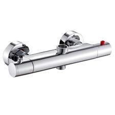 Robinets Mitigeur thermostatique douche salle de bain Twin Outlet chrome laiton