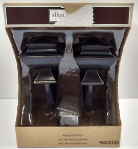 Allen & Roth Curtain Holdback Pair Tie Back Square Holders Burnished Black 33156