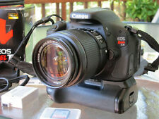Canon EOS Rebel T3i Digital SLR Camera Kit - with Battery Grip and 32 GB SD Card