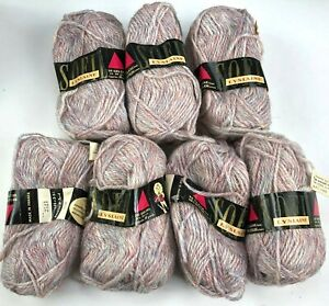 Vintage Deadstock SOFIL Yarn 8 Skeins Ball Marled French France WOOL BL NOS Rare