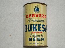 Dukesa Cerveza Juice or Insert Top Beer Can Hammonton NJ 60-25