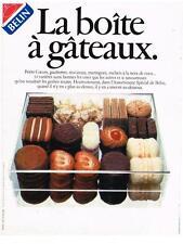 PUBLICITE ADVERTISING   1982    BELIN  biscuits gateaux