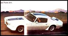 1970 Pontiac Firebird ONLY Dlx Brochure- Original Trans Am 70 GM