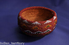"Antique Paiute Basket with Bead Covering c.1910 3"" x 5"""