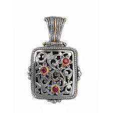 Gerochristo 3263 - Gold, Silver & Rubies Medieval Byzantine Filigree Pendant