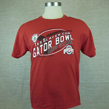 Gator Bowl Ohio State January 2 2012 Men's Red T-Shirt Size L