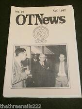 AMATEUR RADIO - RAOTA - OT NEWS #25 - APRIL 1992
