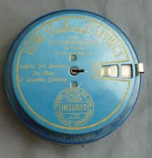 Antique Round Blue Add A Coin Bank-Home Federal Savings And Loan-Tulsa Oklahoma-