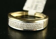10K Mens 6 Mm Yellow Gold Wedding Band Diamond Ring