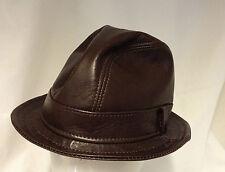 Jill Corbett snatch fedora hat brown plonge nappa Handmade in England to order