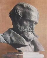 GIUSEPPE VERDI Sculpture Portrait by Vincenzo Gemito - SCARCE 1915 Color Print