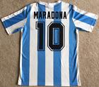 Argentina Mexico 1986 #10 Maradona RETRO VINTAGE SOCCER FOOTBALL SHIRT JERSEY