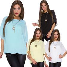 Festliche hüftlange Damenblusen, - Tops & -Shirts mit Rundhals-Blusen