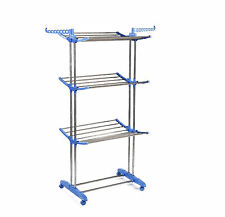 3 Layer Folding Cloth Hanger Stand Towel Hanging Dryer Rack Holding Airer