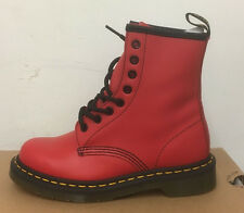 DR. MARTENS 1460  RED SOFTY T   LEATHER  BOOTS SIZE UK 8