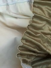 "PRELOVED LIGHT GREEN FAUX SILK QUILT EDGE THICK DRAPES   90"" W X 72"" L"