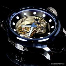 Invicta Russian Diver Ghost Bridge Blue Automatic Skeleton Exhibition Watch New