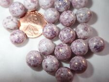 22  MAUVE Picasso 10 mm  Round czech pressed glass beads BBB