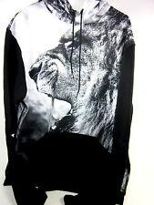 Dna, Lion Pullover Sweat Shirt, Black, Xl, 95 Polyester/ 5 Cotton