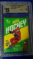 1970-71 Topps Hockey Wax Pack  Graded GAI 9