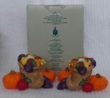 Partylite Harvest Time Taper Candle Holders Cornucopia Pumpkin #P7370 Retired