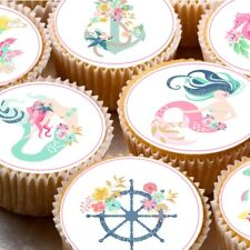 24 Comestible Magdalena Hada Cake toppers decorations ND3 Sirena magnífico pastel