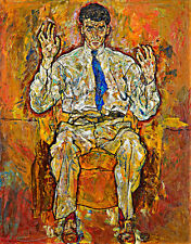Portrait of Paris von Gutersloh by Egon Schiele A1+ High Quality Canvas Print