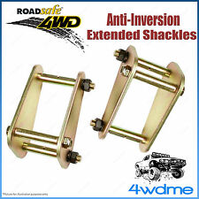 """Pair Front 2"""" 50mm Toyota Landcruiser 73 74 75 4WD Roadsafe Extended Shackles"""