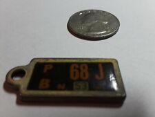 New Jersey Mini DAV License Plate Keychain Tag 68J