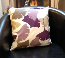 Cream With Purple And Brown Floral Design Evans Lichfield Cushion Cover